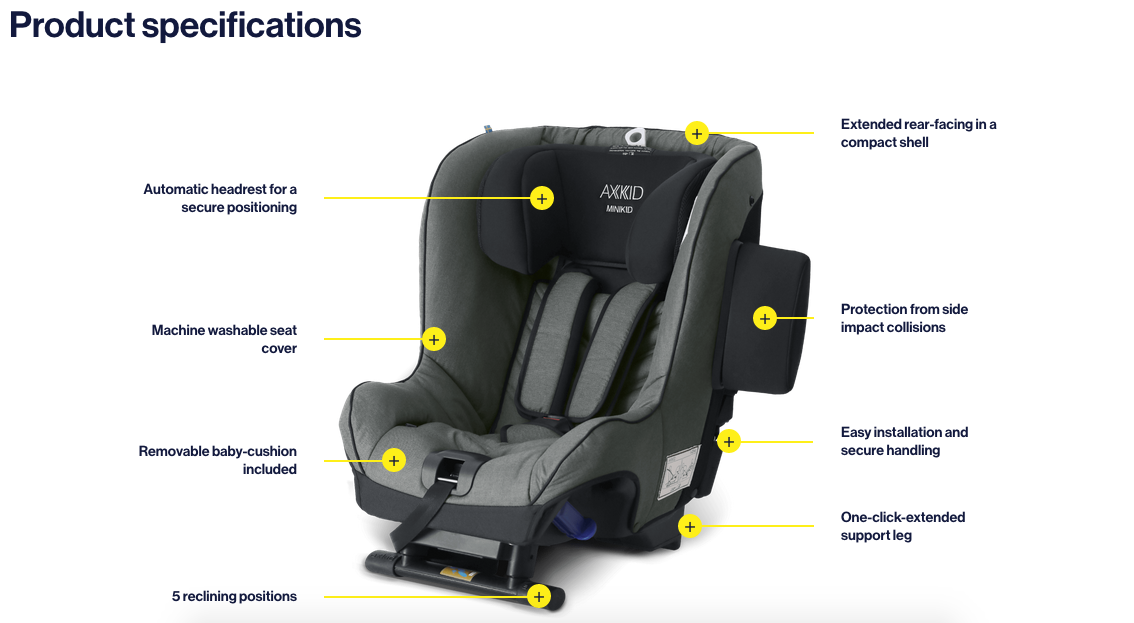 Axkid Minikid car seat