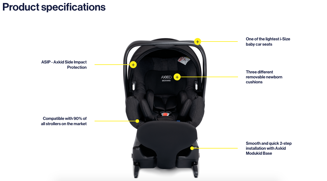 Axkid car seats - Modukid infant