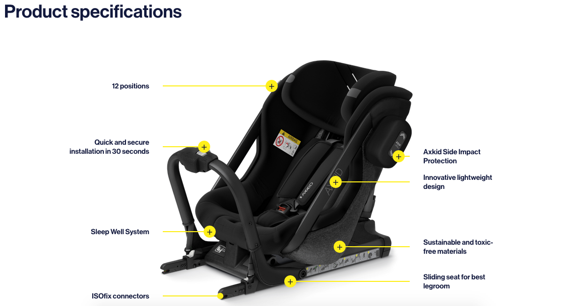 Axkid car seats - ONE